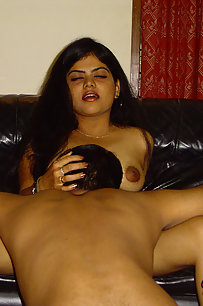 Neha giving her hubby a blowjob and gets licked