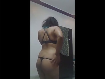 Naughty Indian Babe Dancing In Lingerie