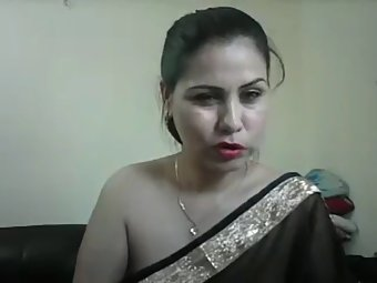 Sexy Indian Aunty Meenakshi In Black Sari