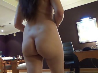 Sexy Indian Young Wife Walking Nude In Lounge