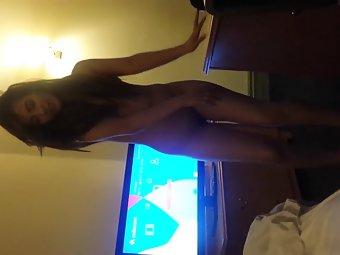 Pakistani alina khan doing a strip show for her boyfriend
