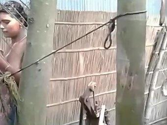 Free Video Next Door Desi Village Girl Outdoor Shower