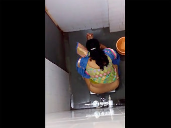Indian Aunty Peeing Caught On Hidden Cam