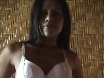 Hot Indian stripper taking her clothes off
