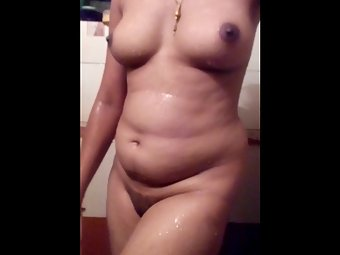 Shy Hot Desi House Wife Shower